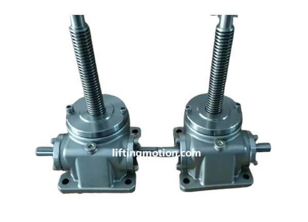 Stainless steel machine screw jack