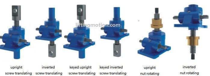machine screw jack type