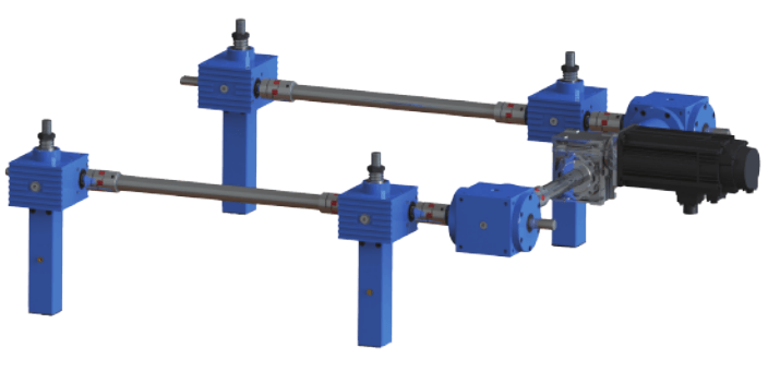 U-Configuration screw jacks and lifting systems