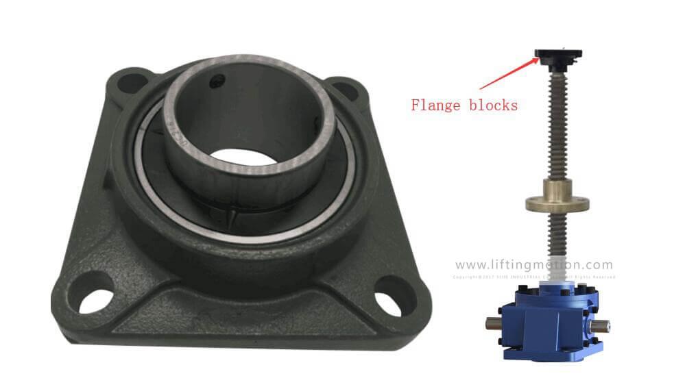 Flange blocks
