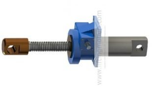 machine screw jack with double clevis