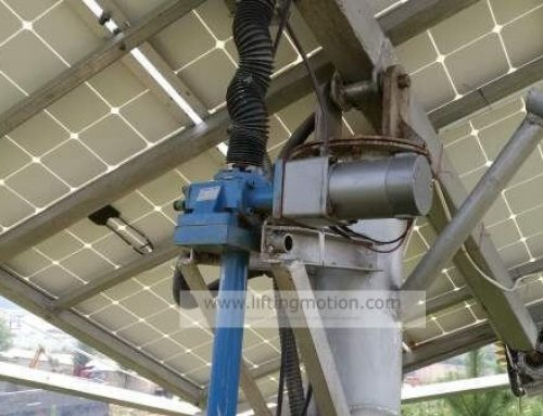 Solar tracking machine screw jack actuators