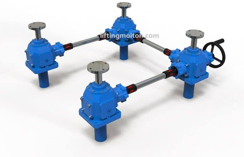 4 bevel gear screw jack system