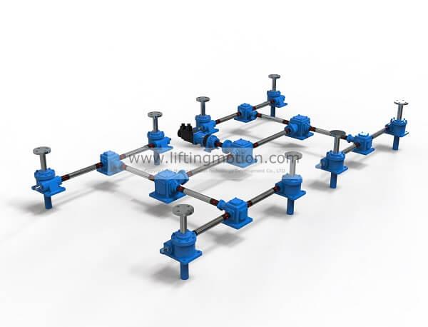 screw jack system 2H configration