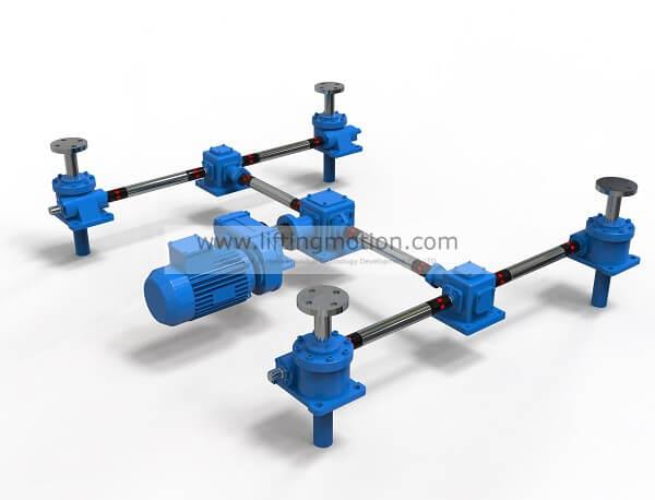 screw jack system H configration
