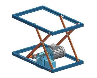 Scissor Lift screw jack Platform