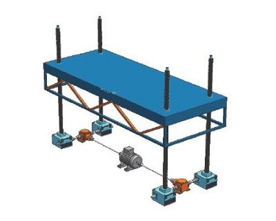 Screw Jack Platform Height Adjustment